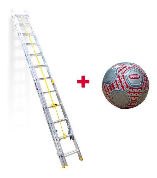 Escalera De Extensión Aluminio Akron Esc 24 77-317