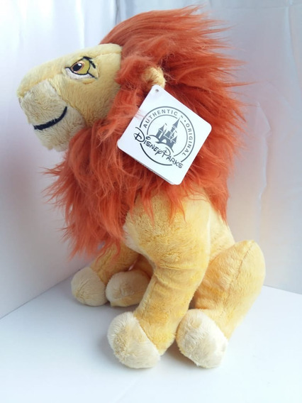 Pelucia Grande Mufasa O Rei Leão Original Disney 32cm Novo