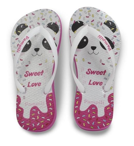 Chinelo Pampili Menina Sweet Love Panda