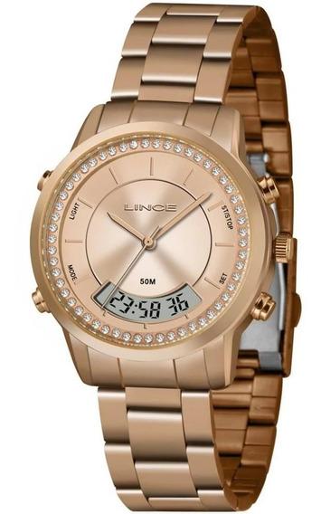 Relógio Feminino Anadigi Lince Orient Lar4640l R1rx Original