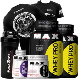 Suplementos Musculares 2 Whey/wey/way Proten 1kg+bcaa+crea