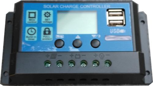 Imagen 1 de 6 de Regulador Para Panel Solar 12v 24v 30a - Electroimpulso