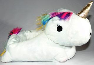 Pantuflas Unicornio Con Luces Led Industria Argentina Eps.