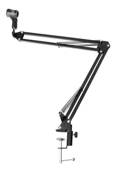 Braço Articulado Suporte Pedestal De Mesa Para Microfone