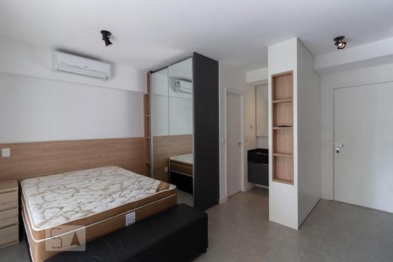 Studio No 10º Andar Mobiliado Com 1 Dormitório E 1 Garagem - Id: 892985776 - 285776
