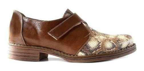 Zapatilla Mujer Cuero Briganti Zapato Taco Goma - Mccz03408