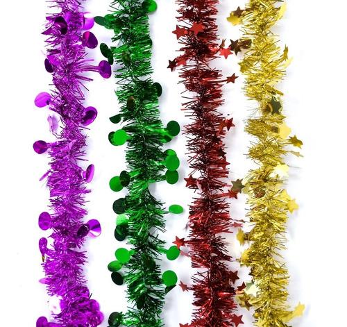 Guirnalda Navidad Metal - Estrella Punto 6 Cm X 2 M #326