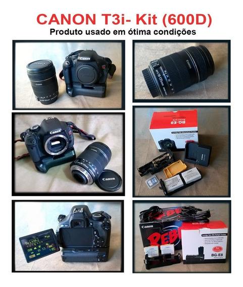 Câmera Canon T3i- Kit (usada)