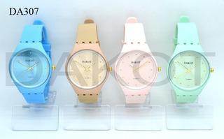 Reloj Dakot Mujer Silicona Skin (celeste)