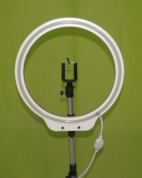Ring Light Neon Led 36 Cm + Tripé Reclinável 110volts R L N
