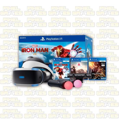 Combo Playstation Vr Iron Man Ps4 + 2 Juegos De Regalo