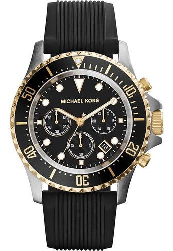 Relógio Michael Kors Mk8366 Everest Orig Gold Black