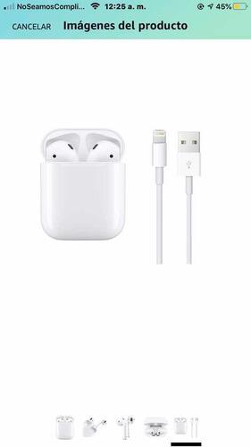 Apple AirPods 2 Con Funda De Carga Mv7n2am/a (original)