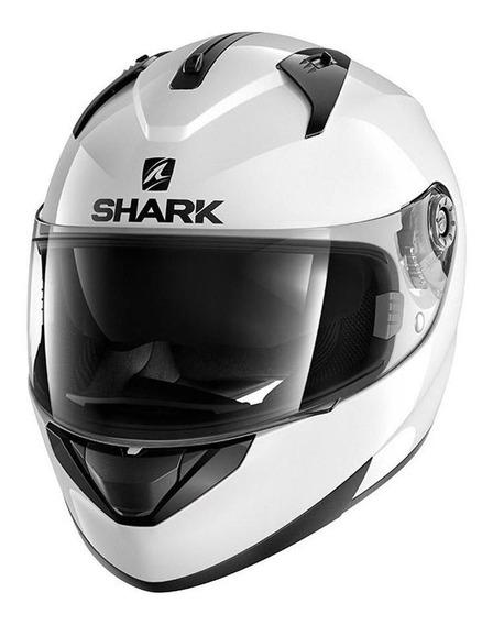 Capacete Shark Ridill Blank Com Víseira Solar