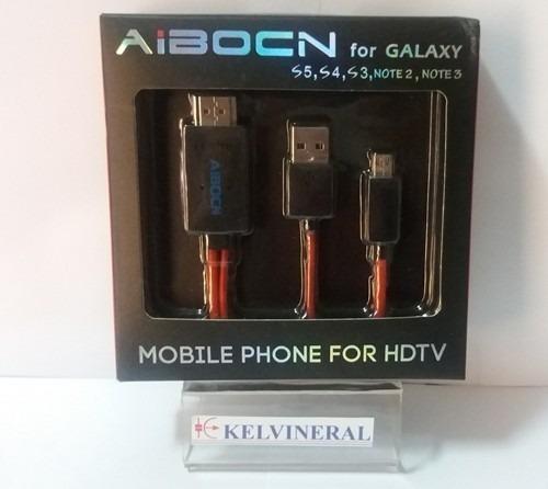 Imagen 1 de 1 de Cable Hdmi A Micro Usb Mhl Samsung S3 S4 S5