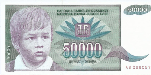 Imagen 1 de 2 de Yugoslavia 50000 Dinara 1992