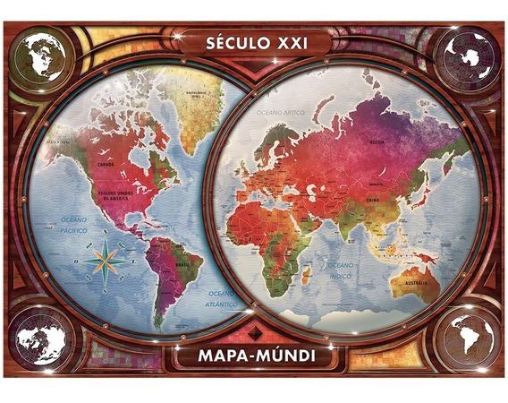 Puzzle 4000 Peças Mapa-múndi Grow