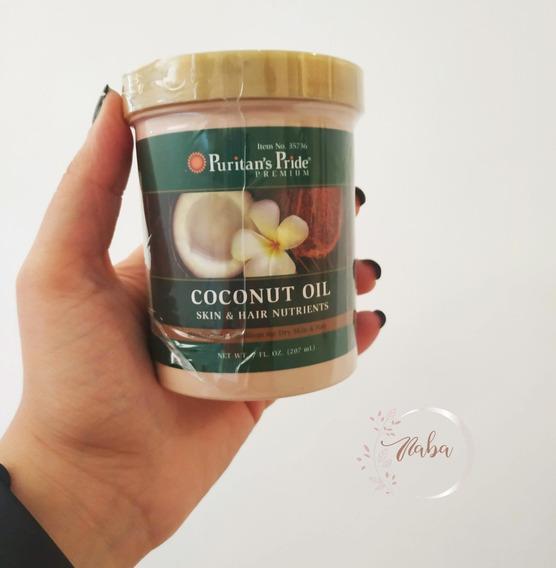 Aceite De Coco Para El Cabello Y Piel 100% Organico