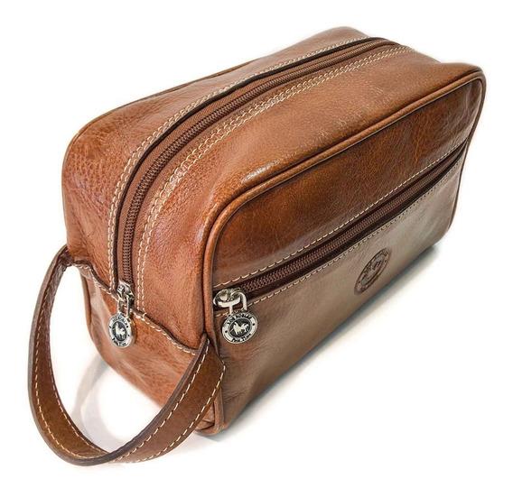 Neceser Hombre Cuero Porta Cosmeticos Viaje Organizador Modelo 0928