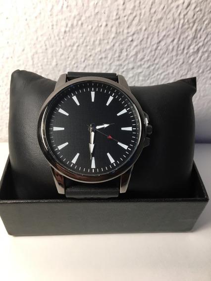 Relógio Preto - Quartz - Clássico- Pulseira - Preta