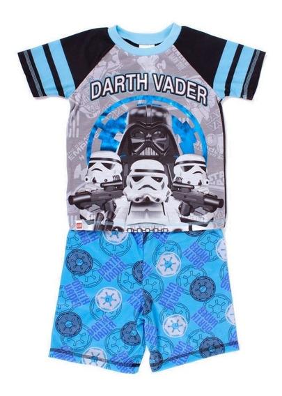 Pijama Lego Para Niño De Star Wars Darth Vader Azul Y Negro
