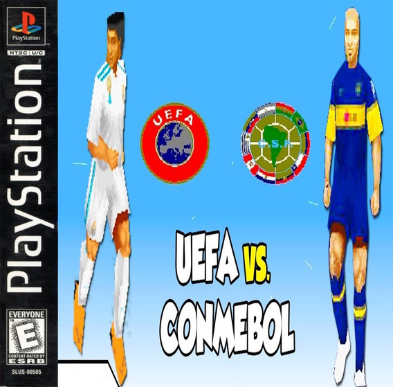 Uefa Vs Conmebol 2018 - Playstation 1 - Psx - Futebol Play