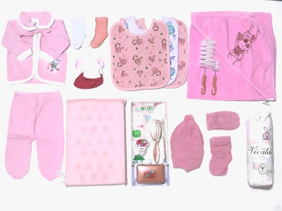 Kit 24 Peças Básicas Enxoval Bebê Recém Nascido