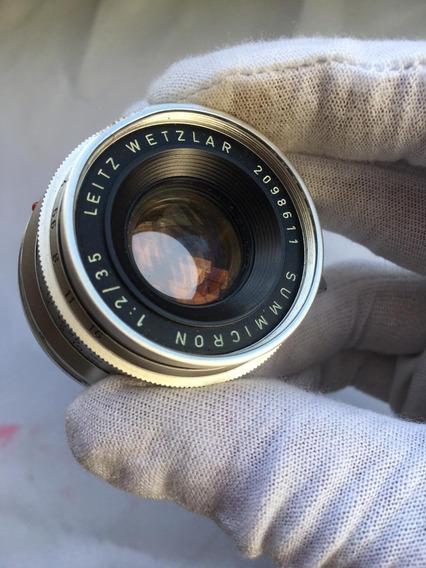 Lente Leica Summicron 35mm F2 V1 8 Elementos, Colecionável
