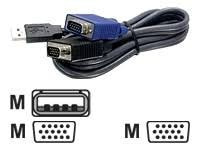 Cabo Kvm Tk-cu10 Trendnet 3.0mts Vga E Usb 2 Em 1 Switch Kvm