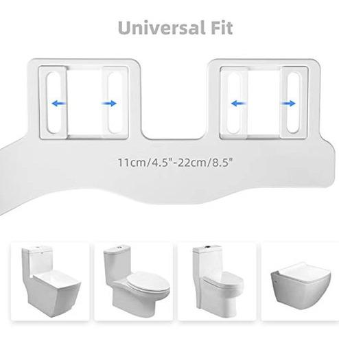 Maquinaria no El/éctrica Bidet de /ángulo Ajustable Accesorio de WC de Bid/é Mec/ánico Boquilla de Autolimpieza Bid/és Tres Perilla