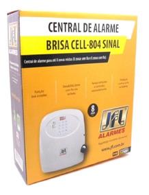 Central De Alarme Brisa Cell 804 Jfl C/ Controle Novo Modelo