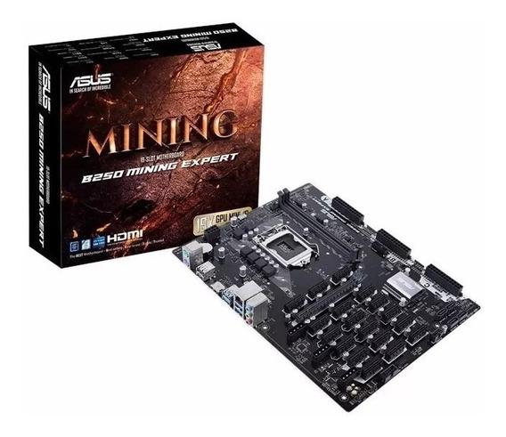 Placa Mãe Para Mineração Asus B250 Mining Expert Lga 1151