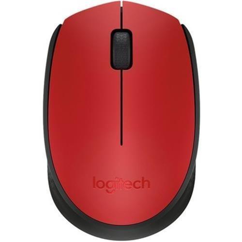 Mouse Logitech Wireless Sem Fio Vermelho M170