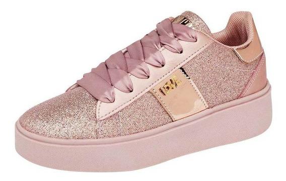 Tenis Baby Cats Niña 181146 Color Oro Talla 18-21 -shoes