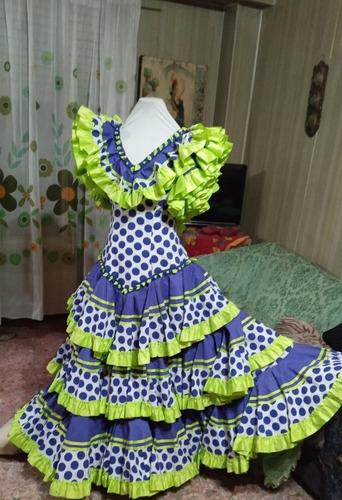 Antiguo Vestido Talle 46 Baile Flamenco Folklore Coleccion