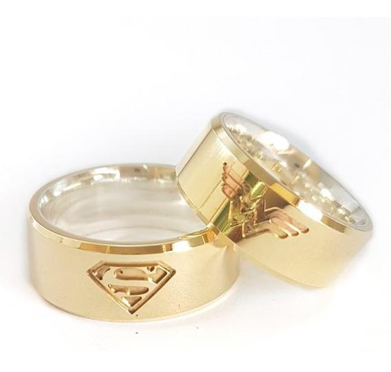 Aliança Mulher Maravilha E Superman Moeda Antiga