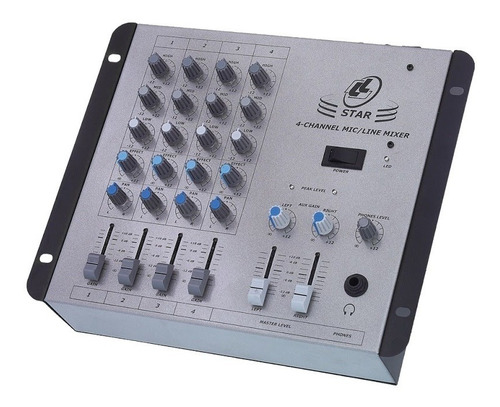 Mesa De Som Lláudio Star 4 Mo Compacta 4 Canais