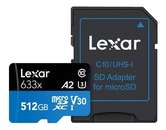 Cartão Chip De Memória Micro Sd Lexar 512 Gb Pronta Entrega!