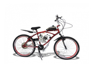 Bicicleta Motorizada 2 Tempos Com Kit Motor 80cc Aro 26