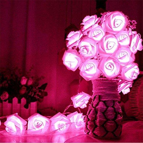 Led Con Pilas Cadena Romántica Rose Luz De Hadas