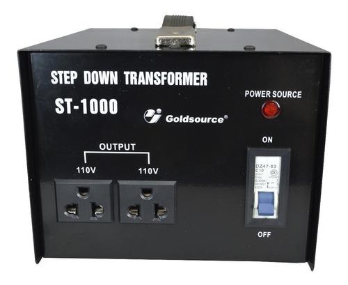 Transformador 220v - 110v 1000w Con Llave - Nuevo - Cs