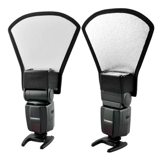 Difusor Rebatedor Universal 2 X1 Para Flash Speedlight