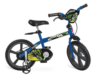 Bicicleta Infantil Aro 14 Alumínio Adventure Menino Bandeirantes