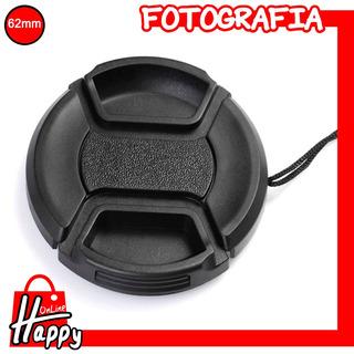 Tapa - Cubierta Para Lentes 62mm Canon/nikon/pentax/etc