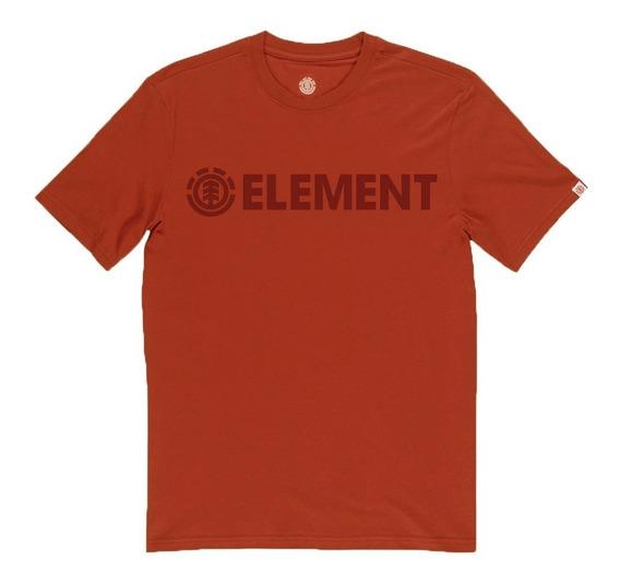 Remera M/c Element Blazin One Color Tee Bordó 21198007