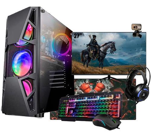 Imagem 1 de 8 de Pc Gamer Completo I5 4ª Gtx 1650 8gb Ssd 480gb Monitor 27