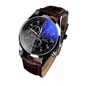 Relógio Luxo Masculino Geneva Social Pulseira Couro Oferta