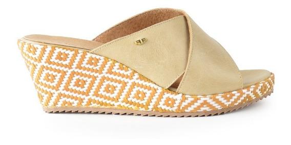 Zapatos De Mujer Zuecos Sandalias Asturias Beige - Ferraro
