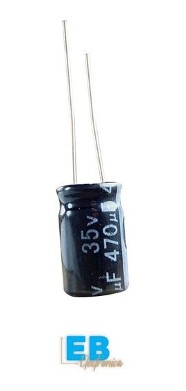 Pack X10 Un. Capacitor Electrolitico 470uf X 35v 105°