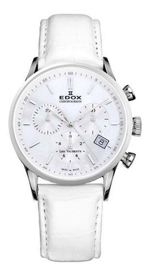 Reloj Edox Suizo De Dama, Les Vauberts, Plateado 40% De Desc
